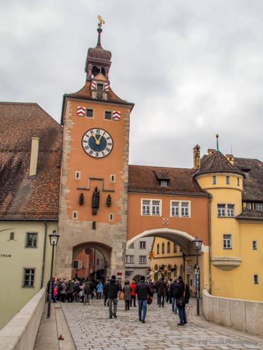 bruckturm or last remaining tower of Regensburg medieval city