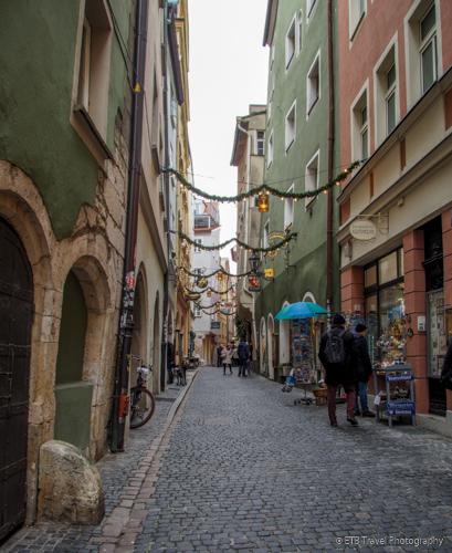 shopping streets in Regensburg