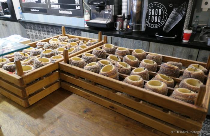 Good Food chimney cakes in Prague