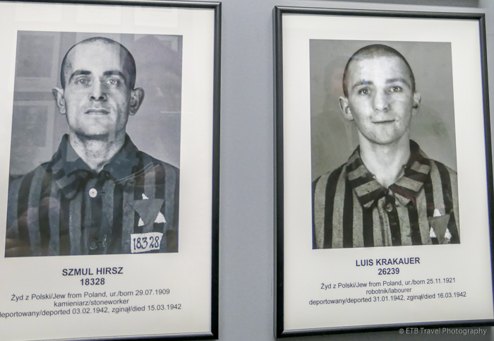 pictures of prisoners at Auschwitz