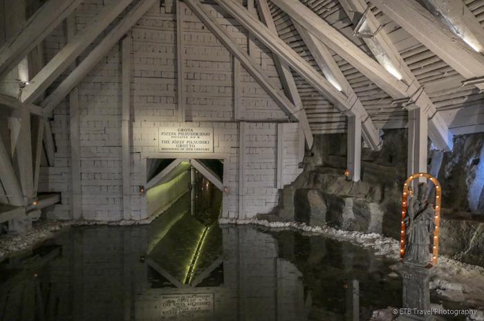 Lake in Wieliczka Salt Mine