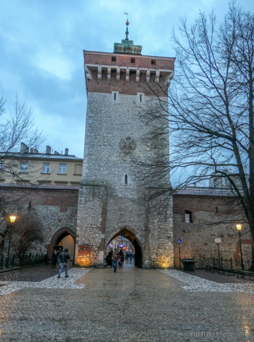 Florian's Gate into Krakow's Old Town