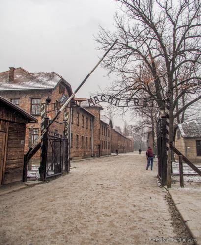 Main gate at Auschwitz