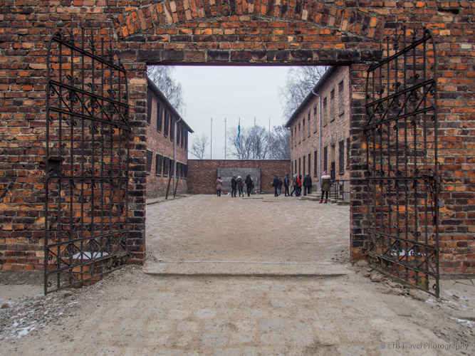shooting wall courtyard at Auschwitz