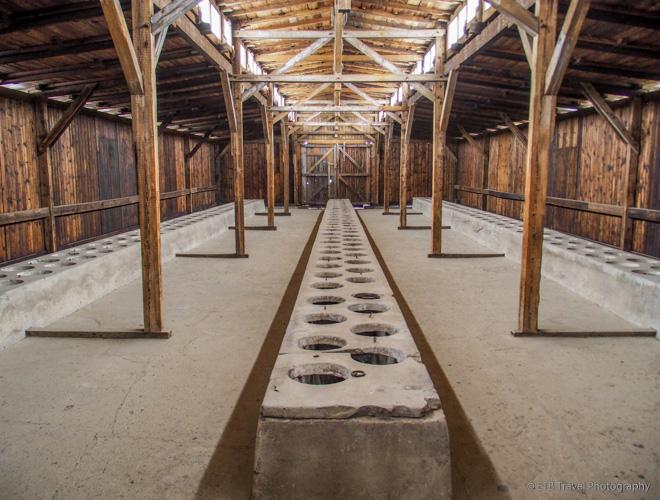 toilets at Auschwitz