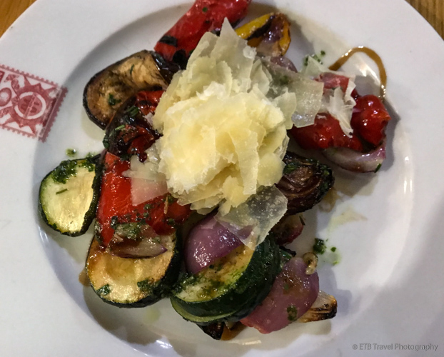 Grilled vegetables at Kolkovna Celnice in Prague
