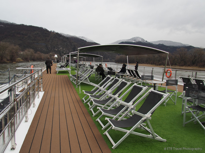 top deck on Danube River Cruise