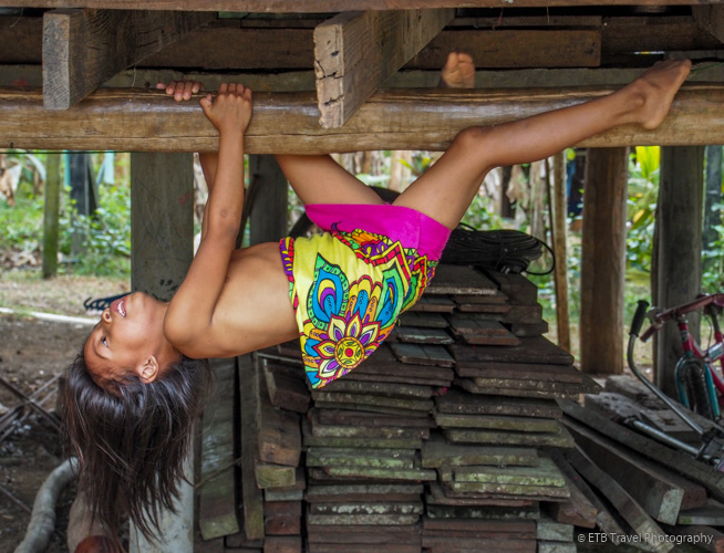 indian girl at village near panama city