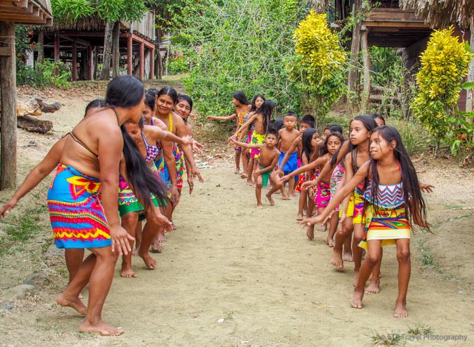 indian dance at village near panama city