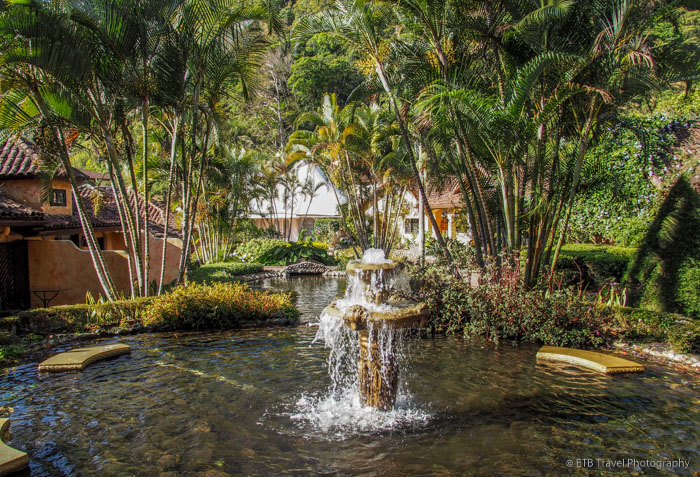 pond at hotel in Boquete