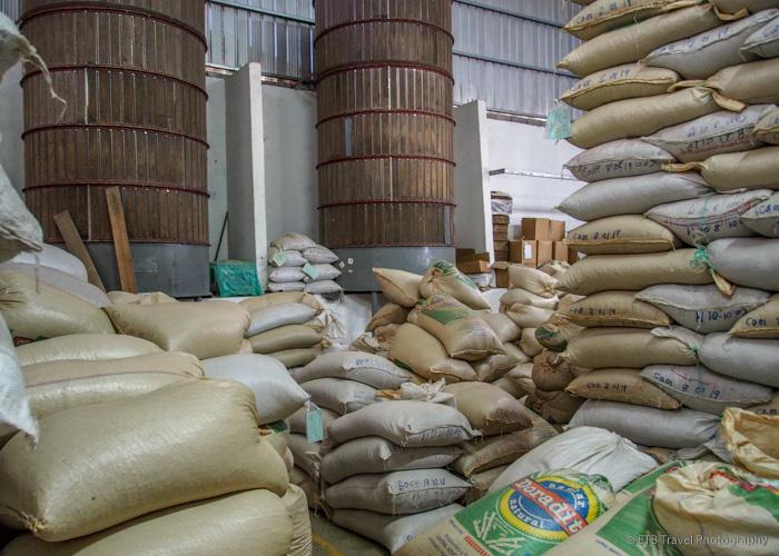 coffee bean storage in Boquete