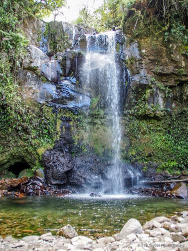 Second waterfall on Three Waterfalls Trail