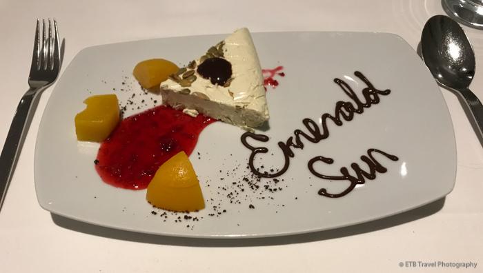 dessert on Danube River Cruise