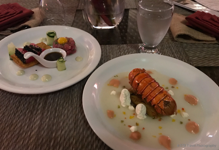lobster and tuna tataki in boquete