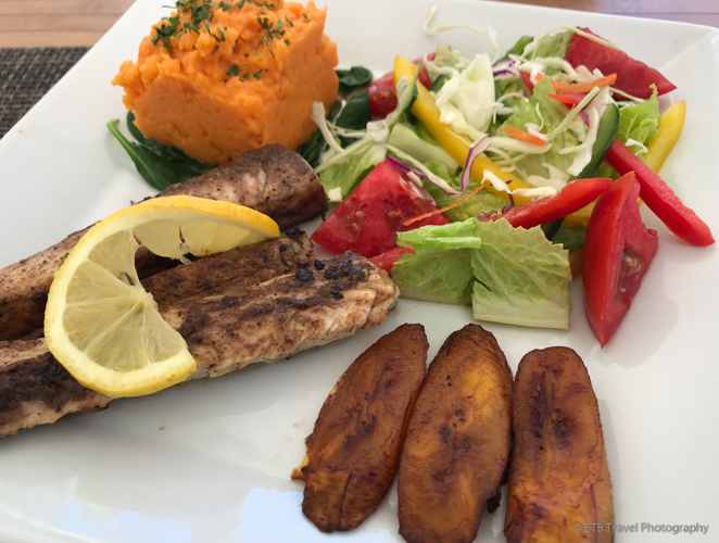 lunch at Tropical Sunset in Anguilla