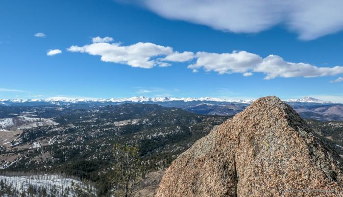 View from Bear Peak Summit at NCAR