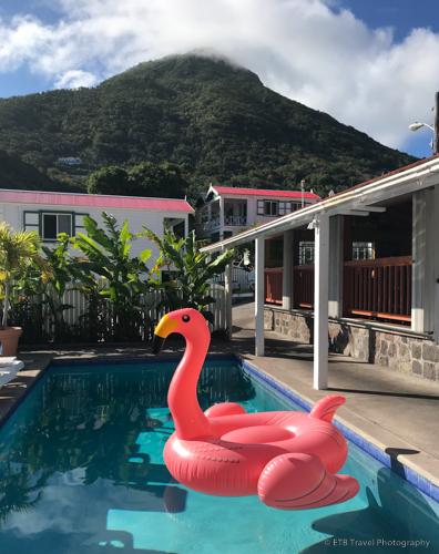pool area at Juliana's in Saba