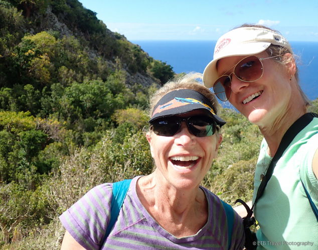 hiking in saba