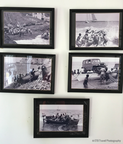 historical photos at museum in Saba