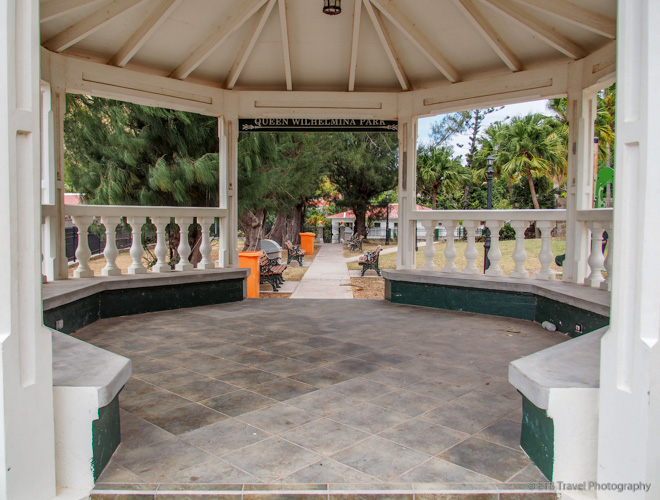 gazebo at park in Saba