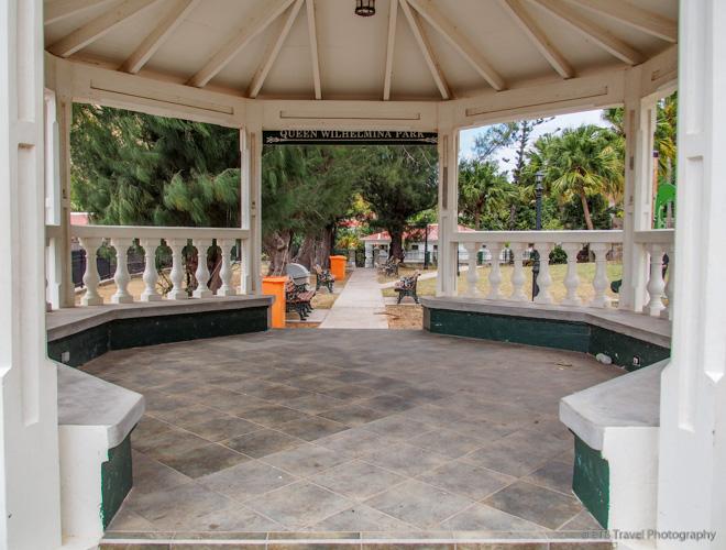 gazebo at park in Saba