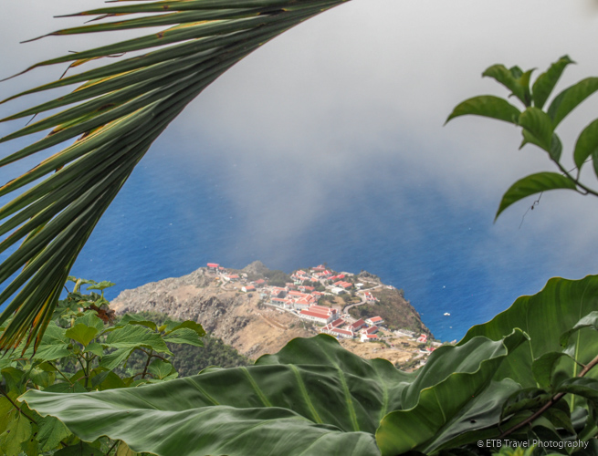 view from overlook on Mt. Scenery in Saba