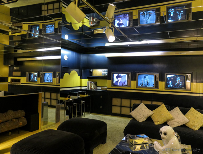 media room at Graceland Mansion