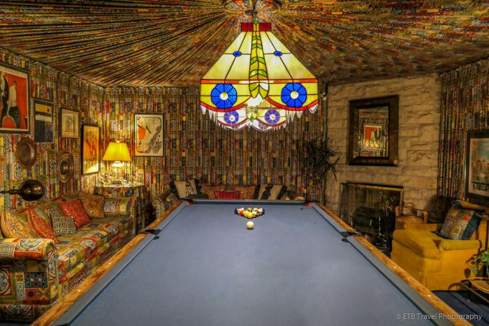 billiard room at Graceland Mansion