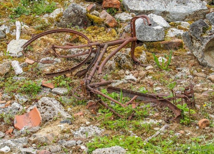 bicycle in oradour-sur-glane