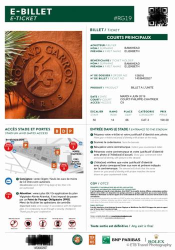 e-ticket to Roland-Garros