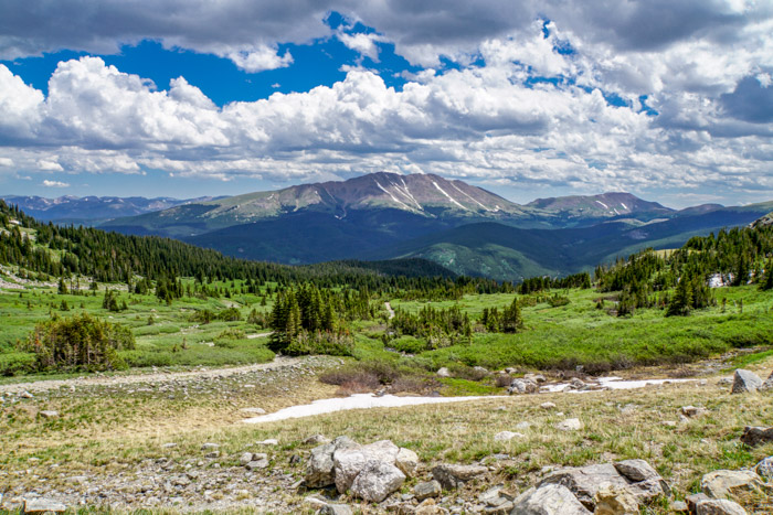 view on Crystal Lake Trail near Breckenridge