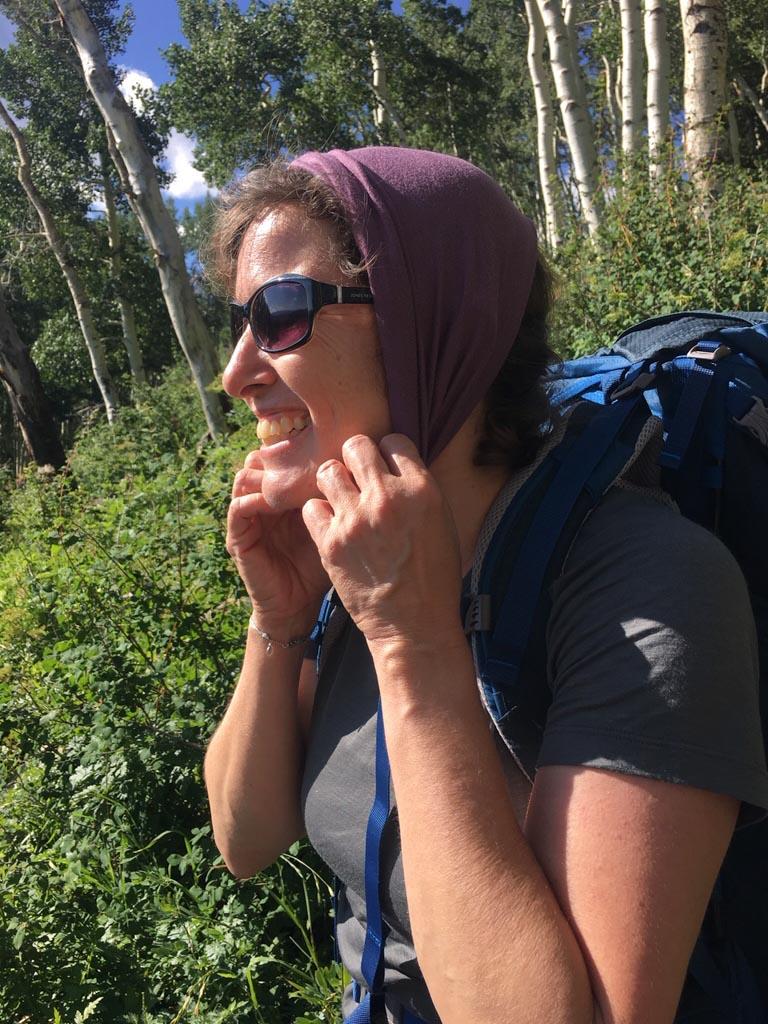 Julie on the Sneffels Traverse