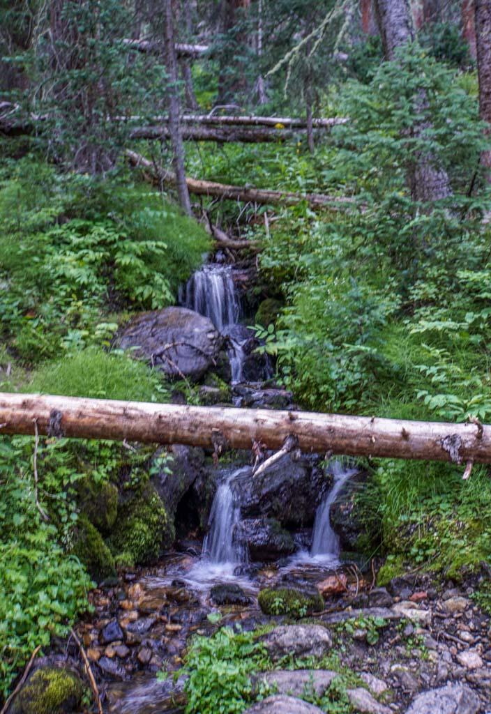 waterfall in Timber Lake Trail