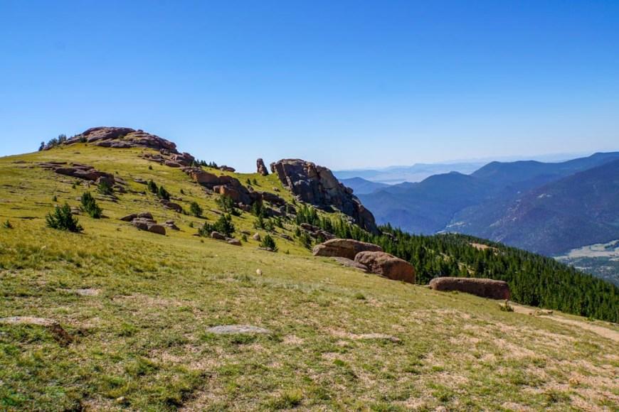 view near Bison Peak