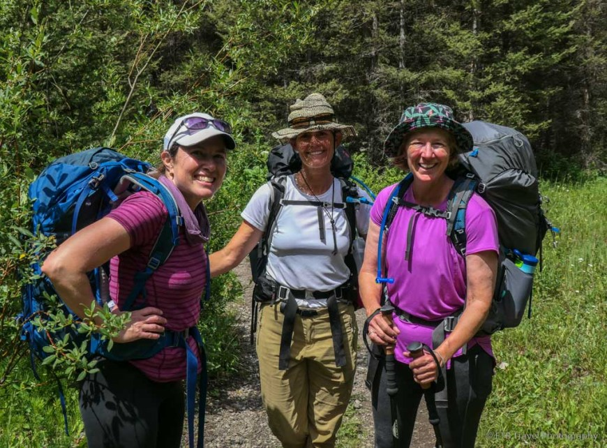 Judy, Julie and Tanya on Sneffels Traverse