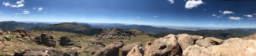 panoramic view from Bison Peak