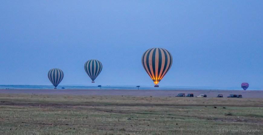 Hot Air Balloons in the Masai Mara
