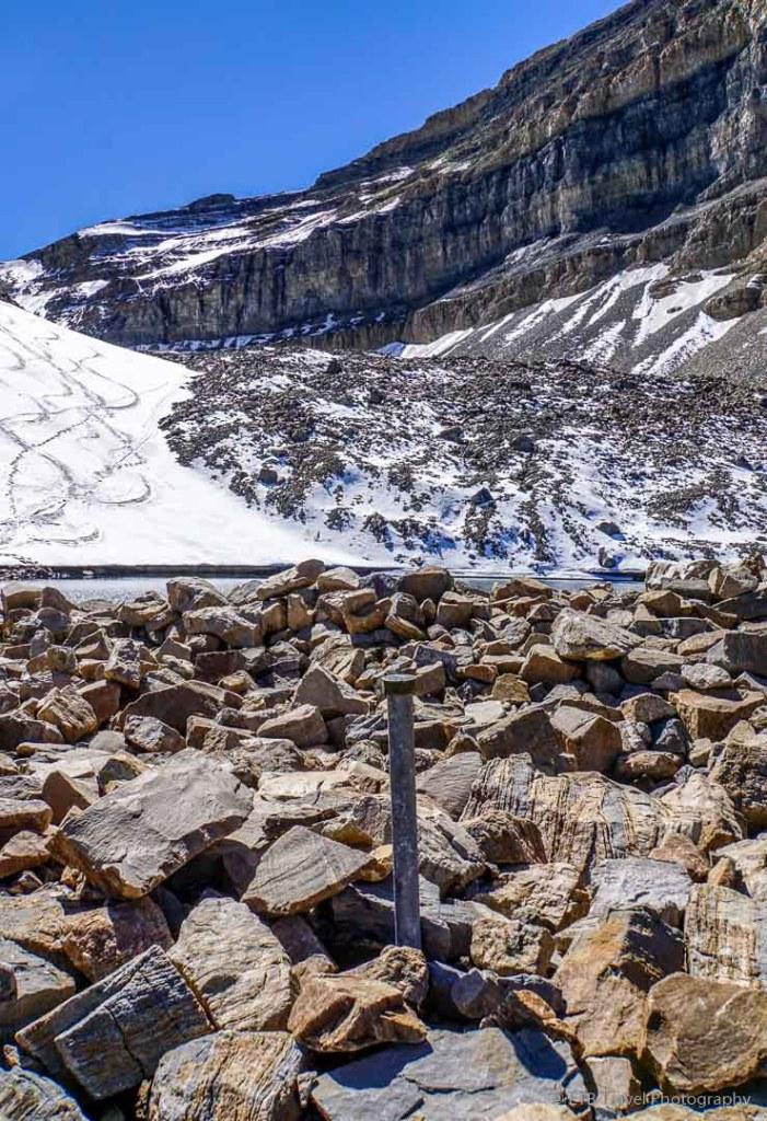 waymarker at Emerald Lake