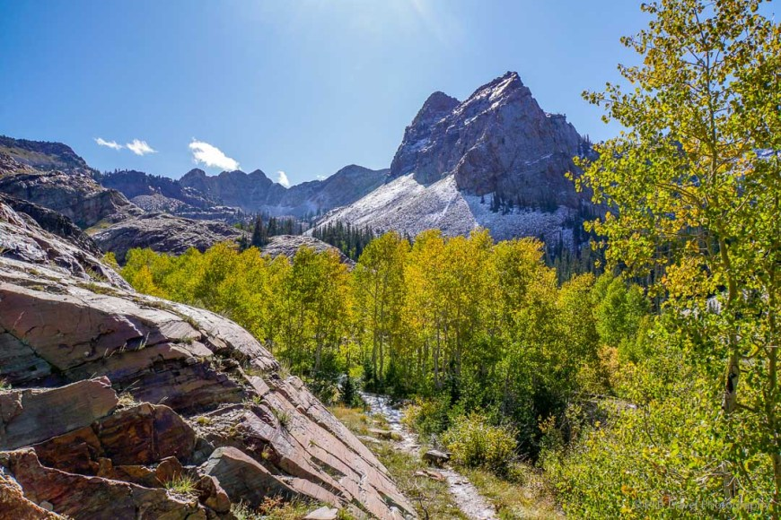 Sundial Peak with aspen