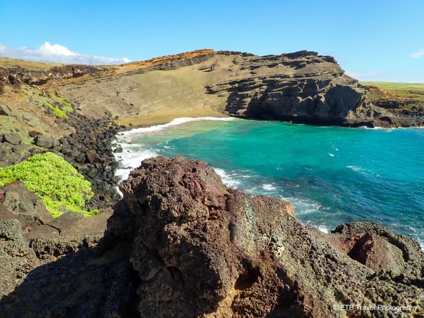 Papakōlea Green Sand Beach on the Ka'u Coast