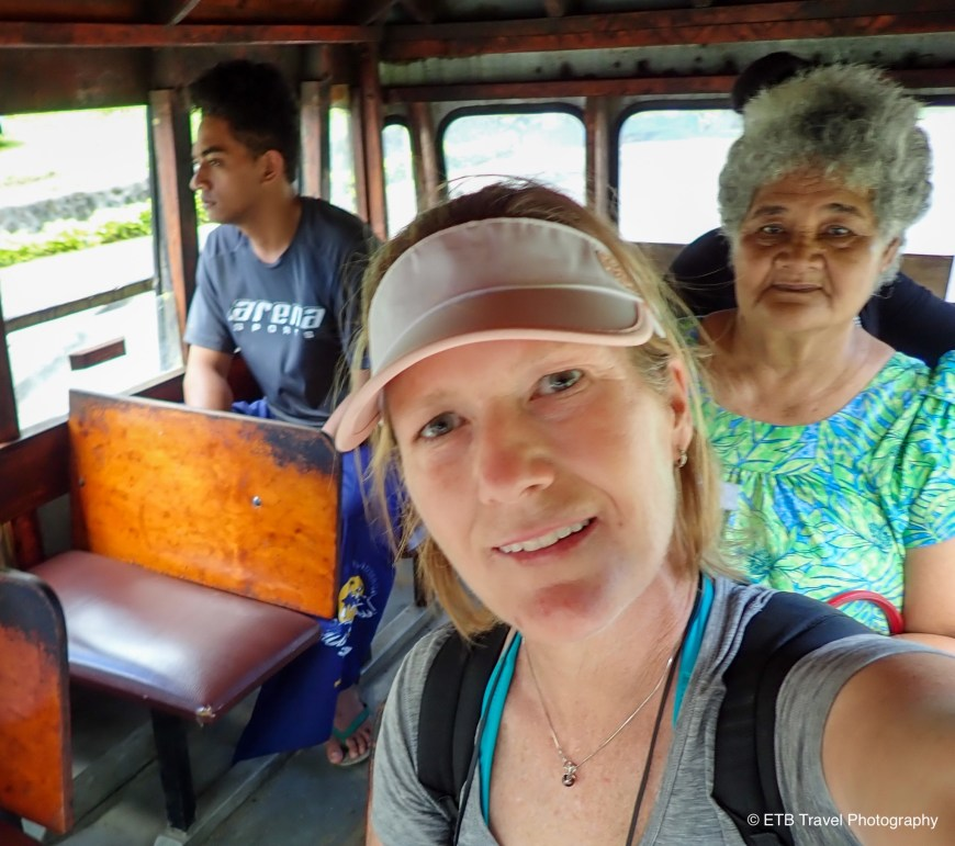 On the bus in American samoa