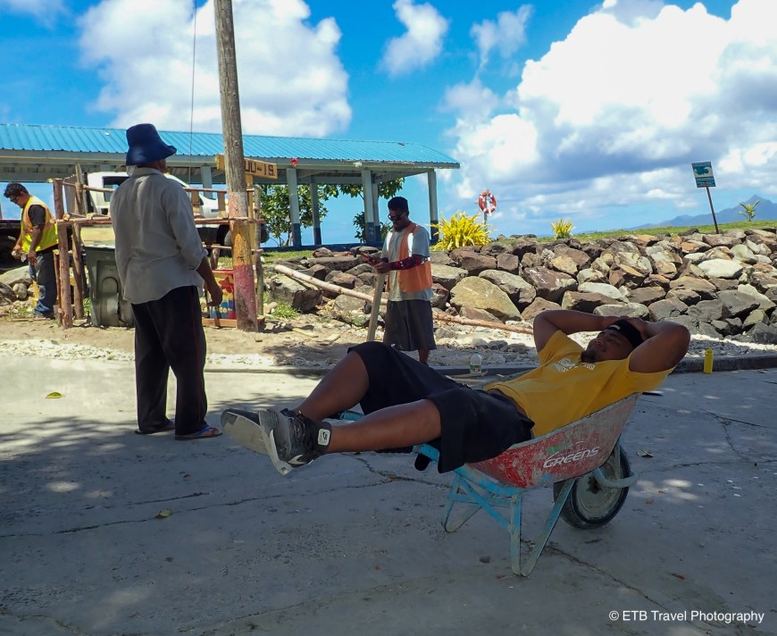 American Samoans working