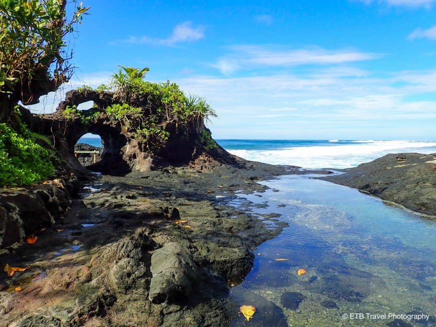 Tide pools and blow holes on the southeastern coast of Upolu