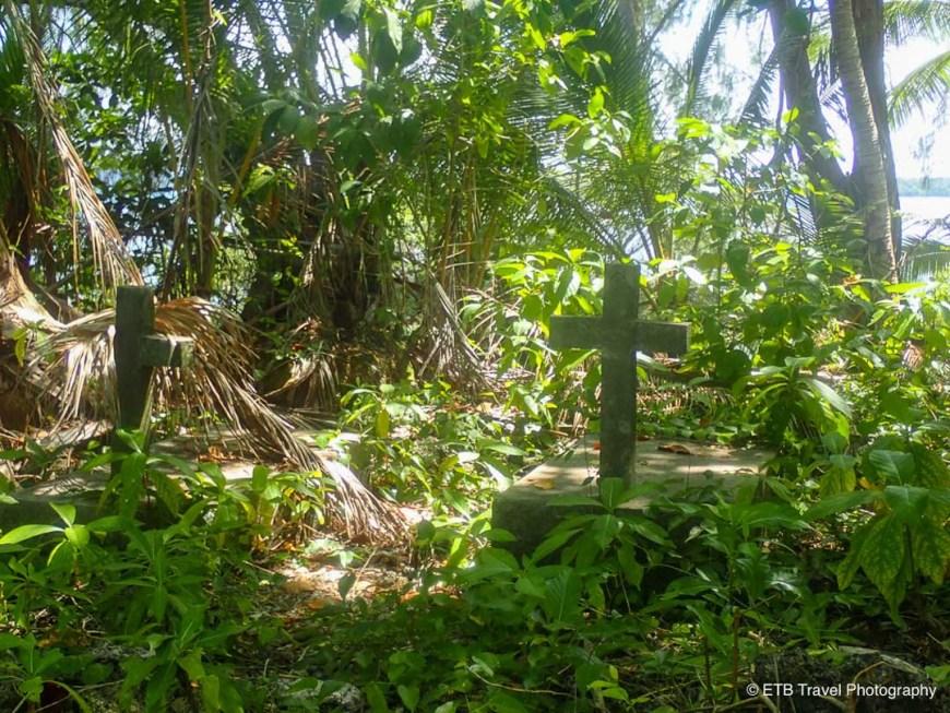 graves on skull island near munda