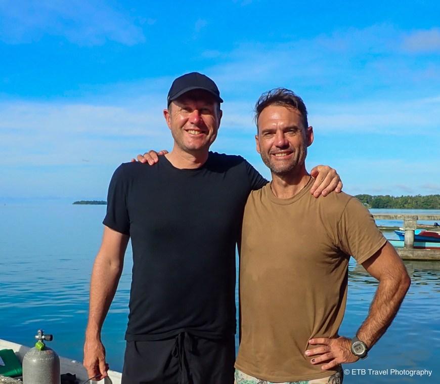 Matt and Jonathon in Munda