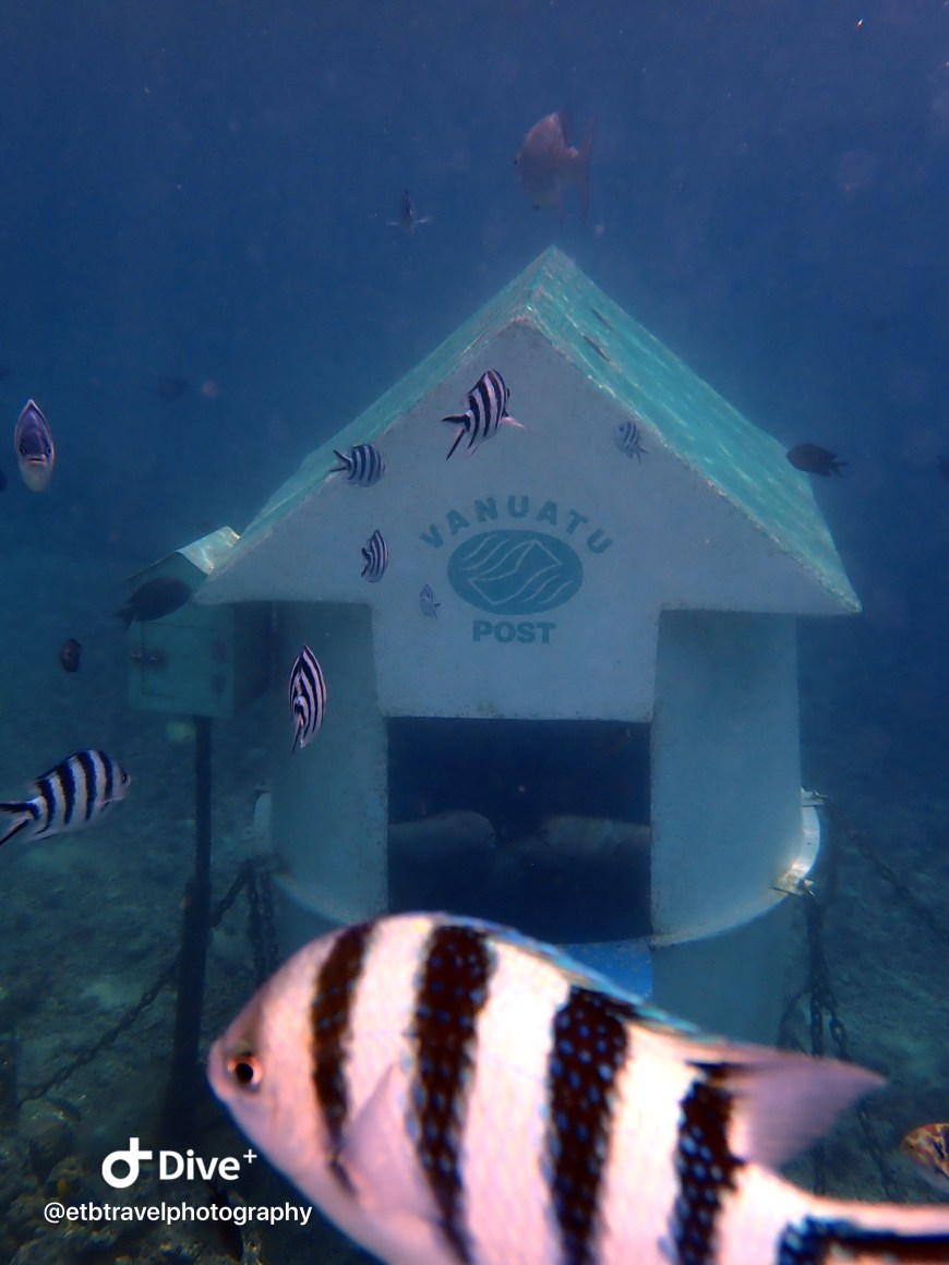 Underwater post office at hideaway island
