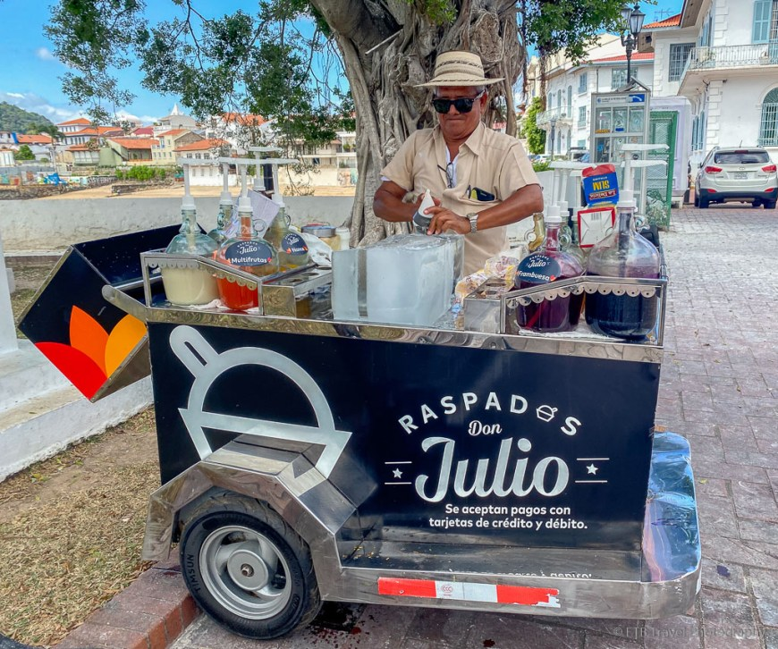 shaved ice in Casco Viejo