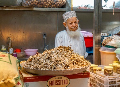 the vegetable market in Muscat