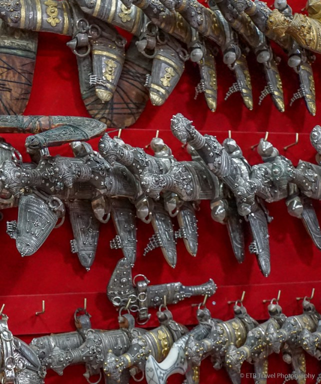 silver khanjars at nizwa souq