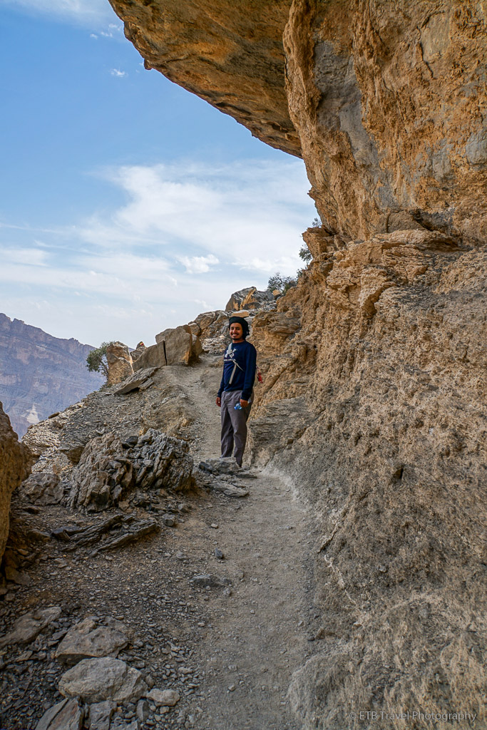the balcony walk in the Grand Canyon of Oman